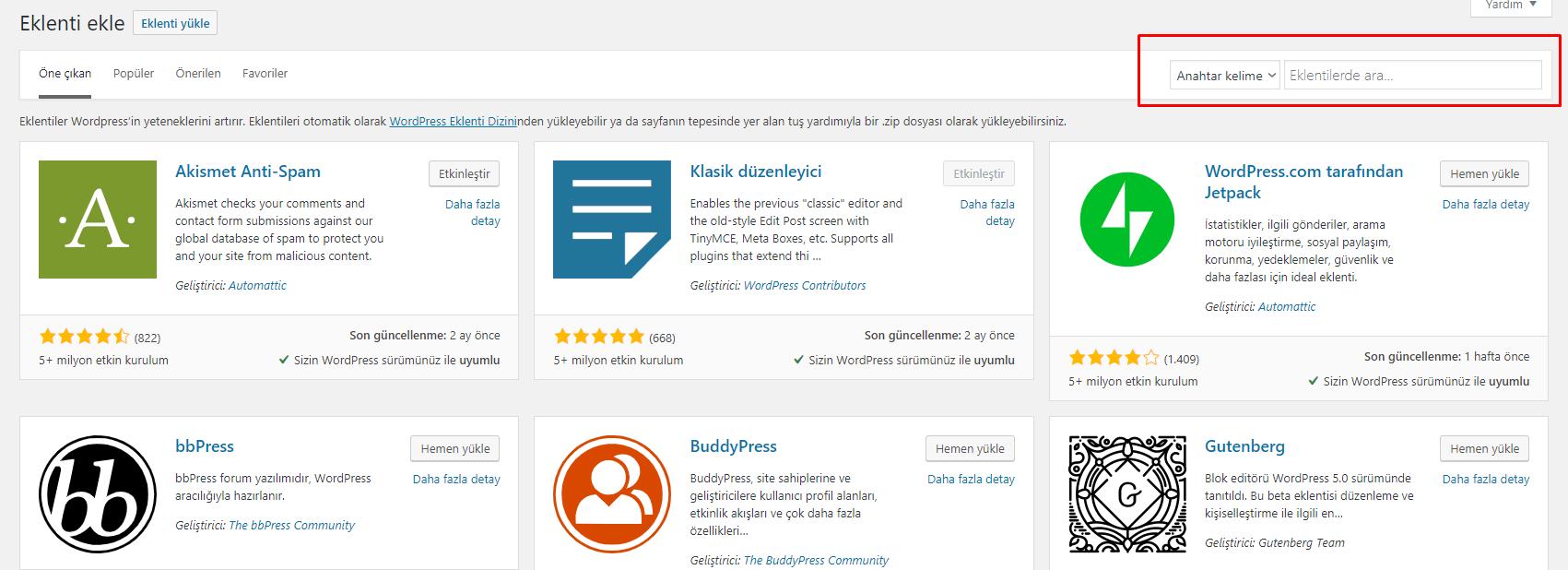 Wordpress Faydalı Eklentiler, Eklenti Nasıl